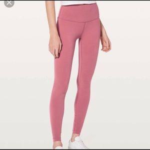 Lululemon Align full length legging pink